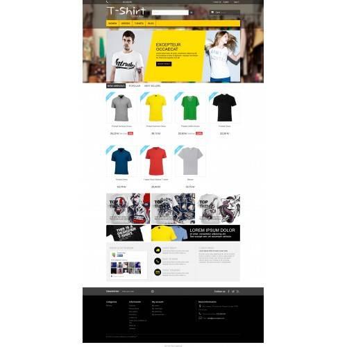 T-Shirt design shop Theme