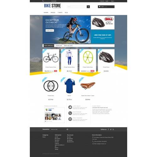 Cycle Bike shop Theme