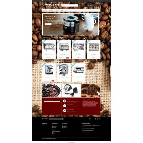 Coffee machine Shop Theme