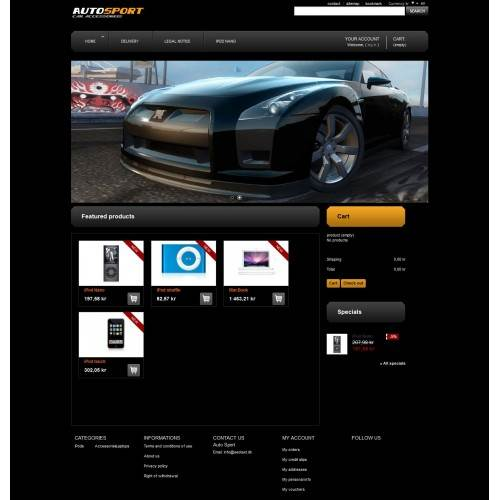Auto Sport Theme